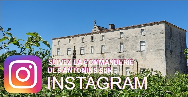 Photo Commanderie des Antonins et logo Instagram